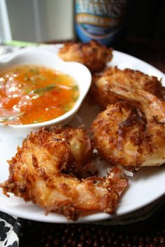 Beer Battered Coconut Shrimp and a Sweet Chili Citrus Sauce