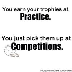 I'm not involved in any organized sport, but this is true for me when I consider that the trophy is looking and feeling my best.