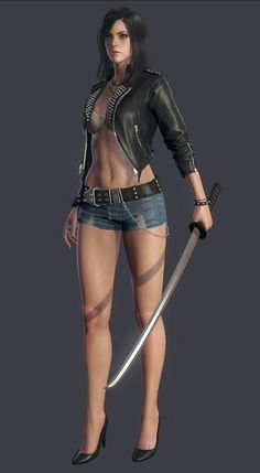 3D Ninja Girl Character #3dninja #3dgirl #3dcharacter