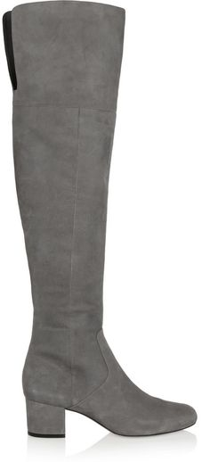 $125, Sam Edelman Elina Suede Over The Knee Boots. Sold by NET-A-PORTER.COM. Click for more info: https://lookastic.com/women/shop_items/342047/redirect