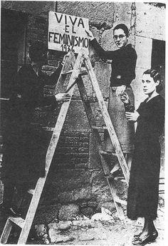 María Telo, Goya Telo y Pilar Alonso. Viva el feminismo. 1936