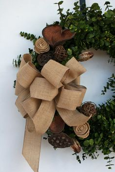 Wreath   Dried Flower Wreath    Eucalyptus Wreath by DyJoDesigns, $90.00