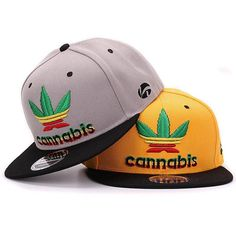Quality weeds snapback cap with 3D leaf raised embroidery pop stylish hip  hop cap and hat for men and women c0eeef1f073c
