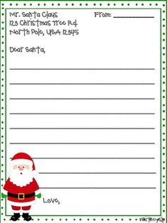 Christmas Letter to Santa - Pinned by – Please Visit for all our pediatric therapy pins Kindergarten Christmas Crafts, Christmas Worksheets, Christmas Activities, Christmas Projects, Christmas Themes, Christmas Wishes, Winter Christmas, Santa Letter Template, Angelfish