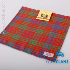 Ross Ancient Tartan Pocket Square. Free worldwide shipping available