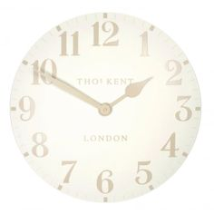 Thomas Kent Clocks Arabic Large 20 inch Wall Clock White Linen