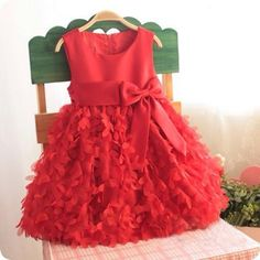"Stylish and cute ""Love is in the air Red Dress"" Size: 3-4 years #babygirldress #babybirthdaydress"