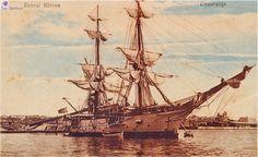 Mircea I, carti postale - School Ship Mircea I, 1882 and later - Romania - The Community Forum (RTC) Royal Navy, Romania, Sailing Ships, Transportation, Boat, Community, School, Vehicles, Water