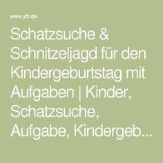 Schatzsuche & Schnitzeljagd für den Kindergeburtstag mit Aufgaben   Kinder, Schatzsuche, Aufgabe, Kindergeburtstag, Schnitzeljagd, Hinweis   ytti