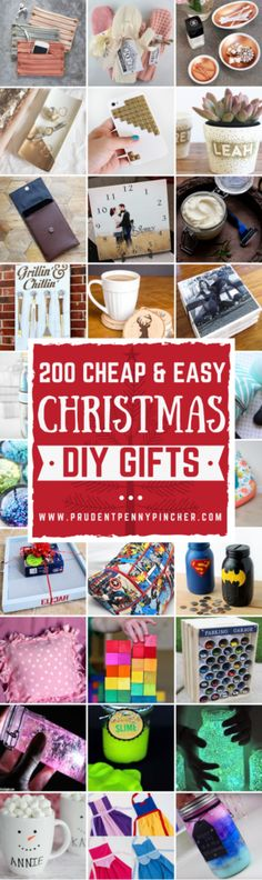 Spread holiday cheer with these cheap and easy DIY Christmas gifts. There are hundreds of DIY gift ideas for the family (mom, dad, grandparents, kids, teens) and friends. Tools & SuppliesYou May Need: Mod Podge with Foam Brush Tacky or Super Glue Hot Glue Gun & Glue Sticks ($3 – Walmart) Spray Paint ($1-$5 at … Diy Christmas Gifts For Friends, Diy Christmas Gifts For Family, Cheap Christmas, Handmade Christmas Gifts, Homemade Christmas, Simple Christmas, Homemade Gifts For Friends, Christmas Crafts, Handmade Ornaments