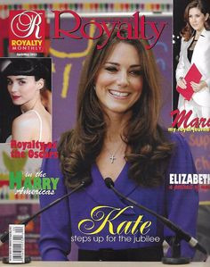 Royalty magazine Kate Middleton Prince William Queen Elizabeth Royalty at Oscars