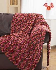 Chunky crochet blanket free pattern on ravelry