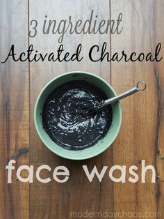 Modern Day Chaos: What We Made: Activated Charcoal Face Wash - Charcoal Face Masks - Ideas of Charcoal Face Masks Activated Charcoal Mask, Diy Charcoal Mask, Charcoal Face Scrub, Charcoal Mask Benefits, Homemade Charcoal Mask, Activated Charcoal Benefits, Charcoal Hair, Charcoal Soap, Aloe Vera