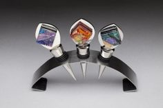 dichroic glass Nancy giere | Responses to Wine Bottle Stoppers