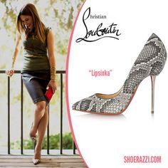 "Sophia Bush in Christian Louboutin ""Lipsinka"" Python Pin Heel Pumps"