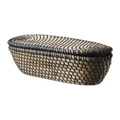 Basket with lid, dark gray, oval - IKEA: Good for bathroom decor Decor, Lidded, Furniture, Bakery Display, Bathroom Furniture, Ikea, Gray Baskets, Modern Baskets, Ikea Basket