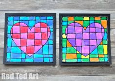 Black Glue Heart Art Project