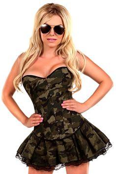 Daisy Corsets 3 PC Sexy Army Girl Costume
