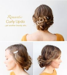 Romantic Curly Updo #howto #tutorial