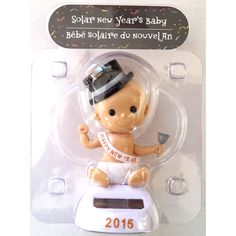 Baby 2015 Happy New Year 2015 Solar Powered Toy Never End Dancing