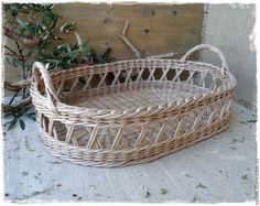 The kitchen is handmade.  Wicker tray