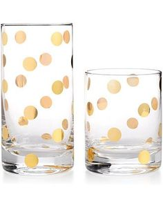 Love the playful print on this Kate Spade glassware!