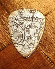 Antique Silver & Brass Guitar Pick for by GuitarPickCollection, $20.00