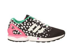 Running en toile imprimée ZX Flux Noir Adidas Originals prix promo Baskets Adidas Monshowroom 90.00 €