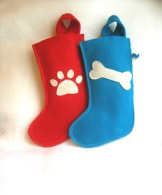 Just Found: All Natural Felt Christmas Stockings | Tree Hugging Pets | the all-natural & eco-friendly resource for pet parents