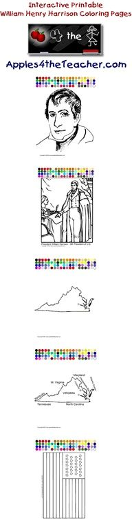 Printable Interactive US President Coloring Pages Presidents For Kids