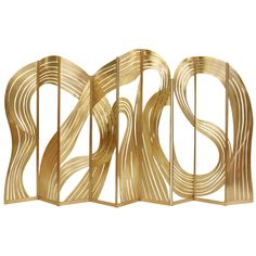 1stdibs.com   'Calligraphy' Brass Paravent by Taher Chemirik