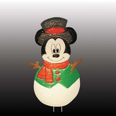 "18"" Disney Mickey Mouse Snowman Christmas Yard Art Decoration - Unlit by KSA. $43.99. Save 15% Off!"