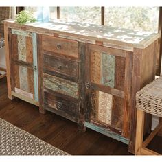 Classic Home Coralie Print Block Buffet | Wayfair