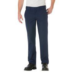 Dickies Men's Big & Tall Slim Straight Fit Lightweight Poplin Pant- Dark Navy 44x3