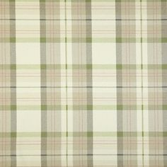 Munro - Acacia fabric, from the Charterhouse collection by Prestigious Textiles Dulux Paint Colour Of The Year, Dulux Paint Colours, Color Of The Year, Curtain Fabric, Curtains, Green House Design, Prestigious Textiles, Check Fabric, Green Fabric