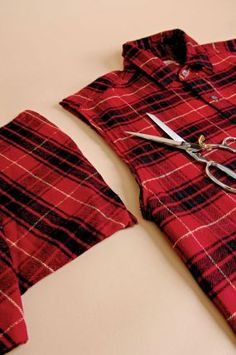 How to make a vest from a plaid shirt - CraftStylish