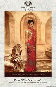 Flat 50% discount on Anarkali Suits and Embelished Sarees by Raghavendra Rathore at DLF Emporio, Vasant Kunj | Deals, Sales, Offers, Discounts in Delhi-NCR | MallsMarket