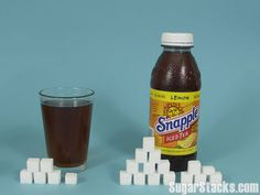 Snapple Lemon Iced Tea   8 oz Serving Sugars, total:23g  Calories, total:100  Calories from sugar:92 16 oz Bottle Sugars, total:46g  ...