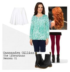 """""""Cassandra Cillian"""" by shaylinka on Polyvore featuring Topshop, Freckles, Quacker Factory and Dr. Martens"""