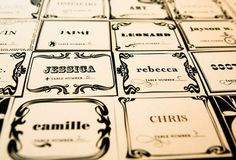I never thought about having different but similar escort cards... me like!