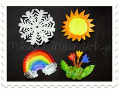   Paper Plate four seasons craft   Paper Crafts