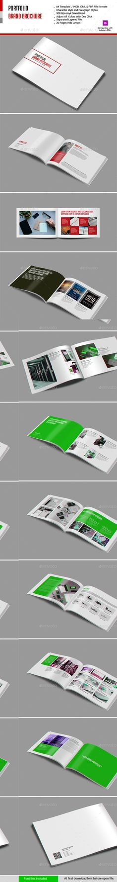 Portfolio Brand Brochure Template. Download: http://graphicriver.net/item/portfolio-brand-brochure/10974788?ref=ksioks
