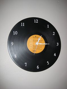 #diy #howto Record clock.