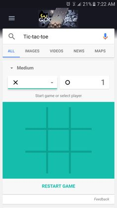 TIL you can play tic-tac-toe against Google