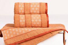 Froté ručník VIVIEN - tmavě oranžová 50x90 cm