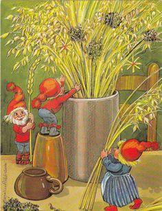 .Marjaliisa Pitkäranta Christmas Tale, Christmas Deco, Christmas Cards, Xmas, Fantasy Dwarf, Winter Festival, Christmas Illustration, Scandinavian Christmas, Yule