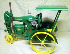 A sewing machine that looks like a John Deere tractor. How cool is that?!