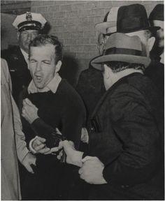 Jack Ruby Shooting Lee Harvey Oswald, photo by Robert Jackson, 1964. Won Pulitzer Prize.