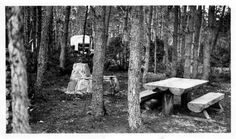 Camp site with 1932-34 truck