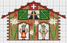 barometer cross stitch kitsch